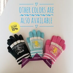 3 Pairs of New MultiColor Double Layered Gloves